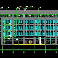 6553平米五层框架结构办公楼建筑及结构全套图