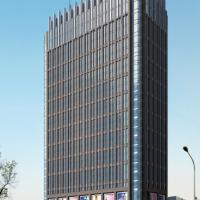 宁夏43005平米26层综合办公楼建筑施工图纸(高层玻璃幕墙立面)
