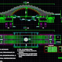 1孔20米人行景观拱桥设计施工图纸