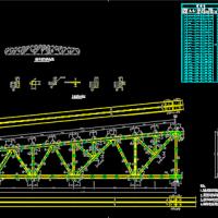 27m梯形钢屋架课程设计施工图