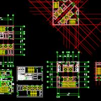 几种高层办公楼核心筒建筑设计图