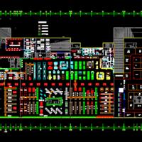 大型超市CAD平面布置图