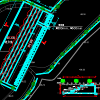 河道治理景观CAD图纸