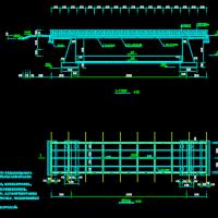 钢结构园林步行桥CAD设计图