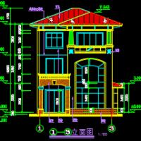 8.9X15三层欧式风格精美三层新农村自建房设计图