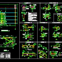 钢楼梯CAD施工图(含详细节点)