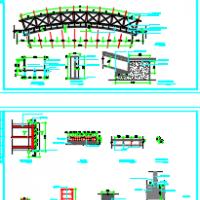 钢结构景观桥CAD图