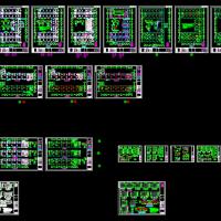 四层框架结构小学结构设计施工图(四层载体桩)