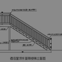 某建筑屋顶钢楼梯CAD施工图