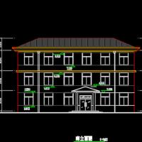 481平米三层砌体结构办公楼建筑及结构全套施工图