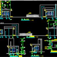某生物制药厂大门建筑施工图