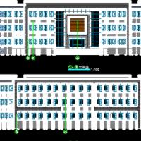 877平米厂区三层办公楼建筑图