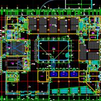 北京八层框剪结构办公楼建筑及结构全套施工图纸(核五甲类二类人员掩蔽所))