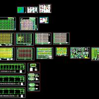 天津某果蔬市场大跨度门式刚架带夹层及钢楼梯CAD施工图