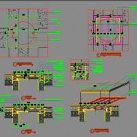无边框双层井盖CAD施工图