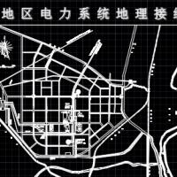 乌斯太地区热电厂电力系统地理接线图