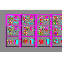 多种型号矩形与扇形雨污水检查井CAD图集