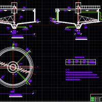 重力浓缩池课程设计CAD图