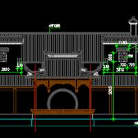 某家族新建祠堂的施工图