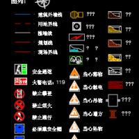 建筑施工安全标志CAD图
