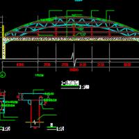 钢结构彩钢瓦屋顶结构设计图