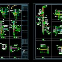 彩钢板及钢架结构节点设计图