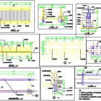 园林景观木平桥CAD详图