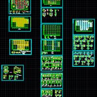 两层钢框架结构厂房施工图(组合楼板)
