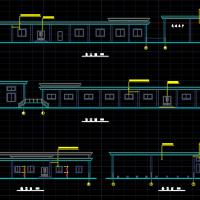 一层框架结构冷库建筑施工图