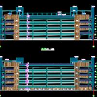 多层框架结构车库设计施工图