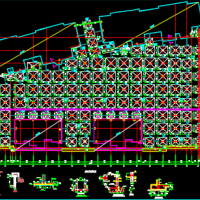两层框架车库结构设计施工图