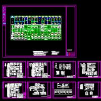 10kV变电所单母线分段线路备自投标准CAD图