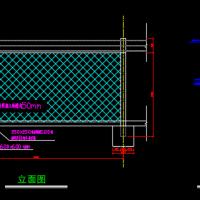 铁丝围网CAD施工图