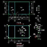 单层彩钢夹芯板无骨架活动房CAD结构图