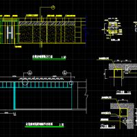 室内装修走道玻璃隔断CAD详图