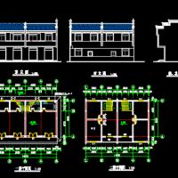 某二层徽派建筑CAD图纸设计方案