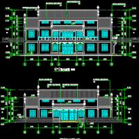 570平米徽派便民服务中心两层综合楼建筑施工图