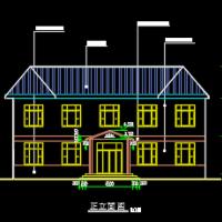 重庆市428平米两层村级公共服务中心、托养中心、村卫生室建筑及结构施工图