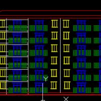 多层住宅建筑立面图
