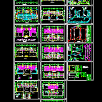 高层办公楼溴化锂空调机组全套设计图