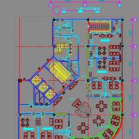 两层中式茶馆装修设计CAD施工图