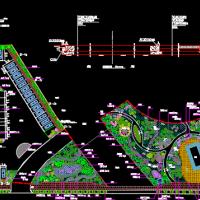 某公园大门入口停车场规划设计图