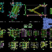 某建筑新增双跑钢结构楼梯节点构造详图