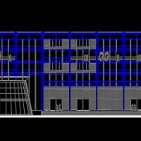环保监测站办公楼方案图纸