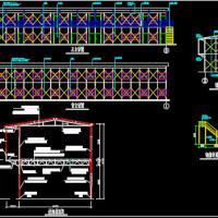 10开间两层工地彩钢板房施工图纸