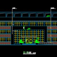某1307平米三层办公楼建筑设计施工图纸