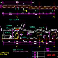 园林云墙及月洞门施工图详图