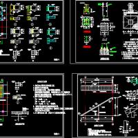 钢结构楼板及钢楼梯CAD详图