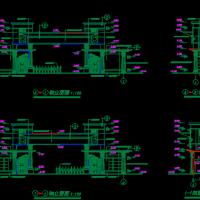 中式大门建筑设计图纸