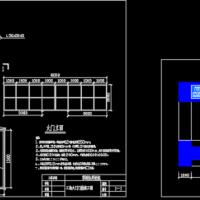 中建某工地大门门楼设计施工图